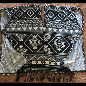 Tops - New Southwest Tribal Aztec Festival Fringe Poncho